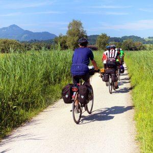 piste cyclable dans une commune