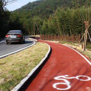 piste cyclable sur un trottoir